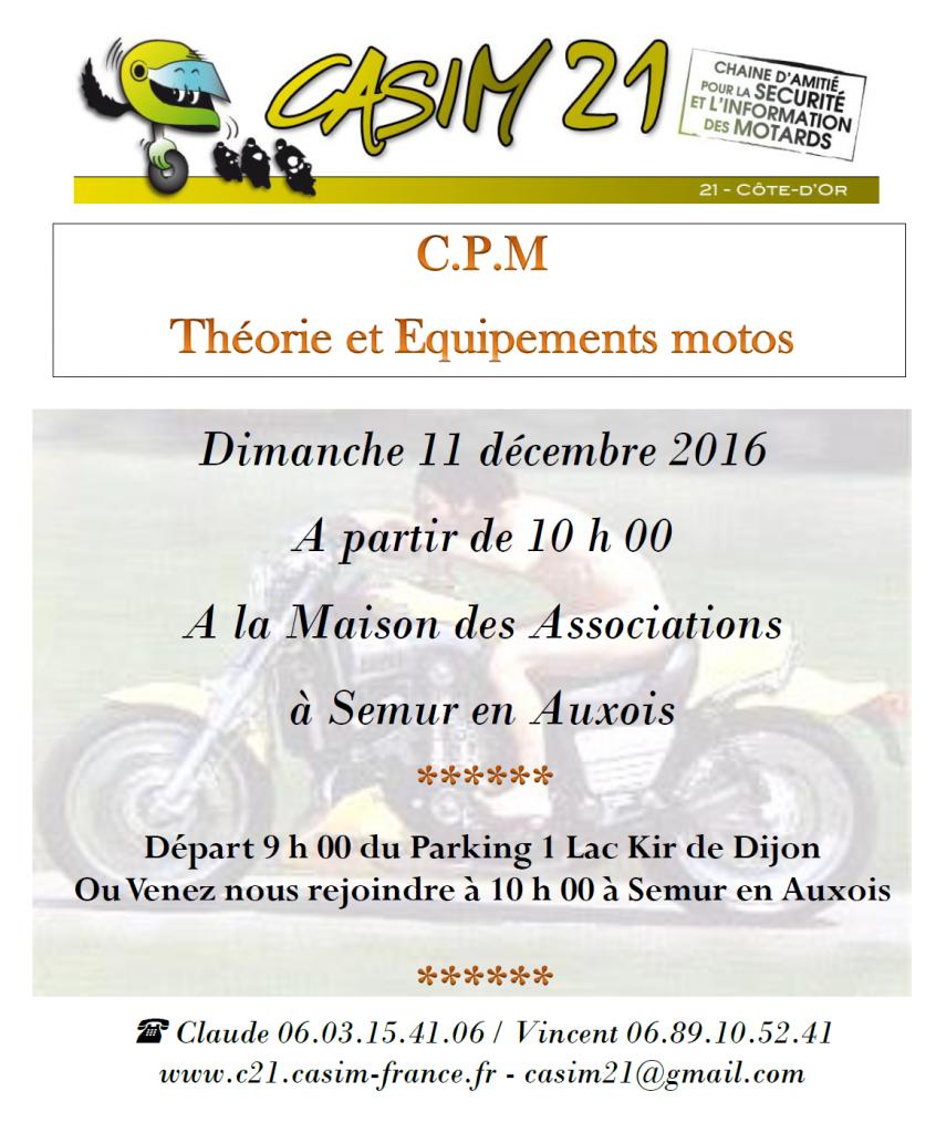 CPM : Théorie et Equipement @ La maison des associations | Semur-en-Auxois | Bourgogne Franche-Comté | France